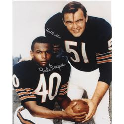 Gale Sayers  Dick Butkus Signed Bears 16x20 Photo (JSA COA)