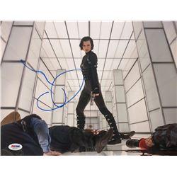 "Milla Jovovich Signed ""Resident Evil: Retribution"" 11x14 Photo (PSA COA)"