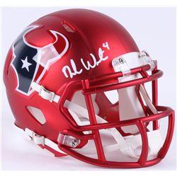 Deshaun Watson Signed Texans Blaze Speed Mini-Helmet (JSA COA)
