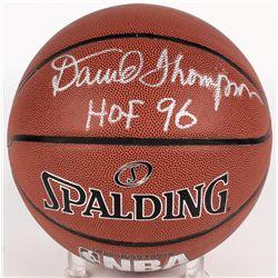 """David Thompson Signed NBA Basketball Inscribed """"HOF 96"""" (PSA COA)"""