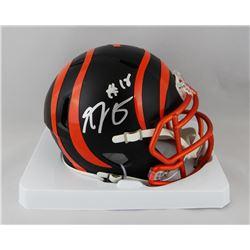 A.J. Green Signed Bengals Blaze Speed Mini Helmet (JSA COA)