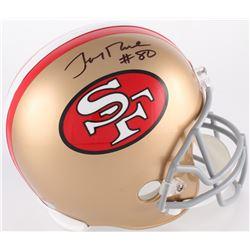 Jerry Rice Signed 49ers Full Size Throwback Helmet (Beckett COA)