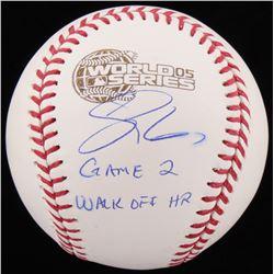 "Scott Podsednik Signed 2005 World Series Baseball Inscribed ""Game 2 Walk Off HR"" (Schwartz COA)"