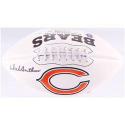 Dick Butkus Signed Bears Logo Football (JSA COA)