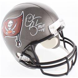 """Derrick Brooks Signed Buccaneers Full-Size Helmet Inscribed """"HOF 14"""" (JSA COA)"""