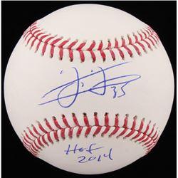"""Frank Thomas Signed OML Baseball Inscribed """"HOF 2014"""" (Schwartz COA)"""