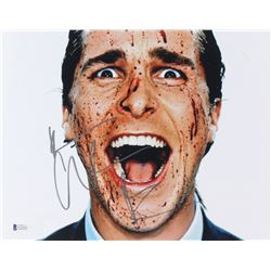 "Christian Bale Signed ""American Psycho"" 11x14 Photo (Beckett COA)"