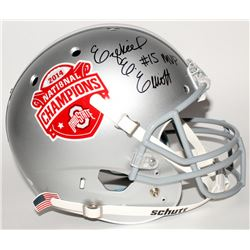 "Ezekiel Elliott Signed Ohio State Buckeyes 2014 National Champions Full-Size Helmet Inscribed ""MVP"""