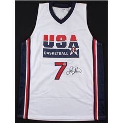 "Larry Bird Signed Team USA ""Dream Team"" Jersey (Bird Hologram)"