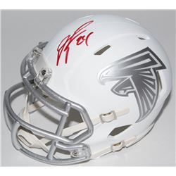 Devonta Freeman Signed Falcons White ICE Speed Mini-Helmet (Radtke COA)