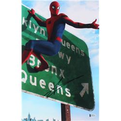 "Tom Holland Signed ""Spider-Man: Homecoming"" 10x15 Photo (Beckett COA)"