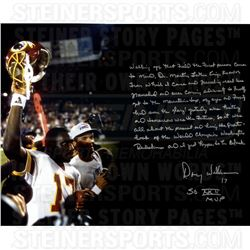 Doug Williams Signed Redskins 16x20 Photo with Extensive Inscription (Steiner COA)