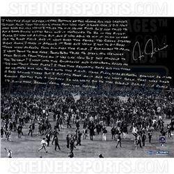 Chris Chambliss Signed 16x20 Photo with Handwritten Story Inscription (Steiner COA)