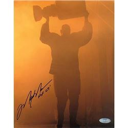 "Mark Messier Signed Oilers 8x10 Photo Inscribed ""HOF 07"" (Steiner COA)"