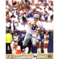 Tony Romo Signed Cowboys 8x10 Photo (Upper Deck COA  Steiner COA)