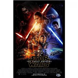 J.J. Abrams Signed Star Wars: The Force Awakens 12x18 Movie Poster (Beckett COA)