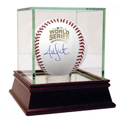 Jon Lester Signed 2016 World Series Logo Baseball (Steiner COA)