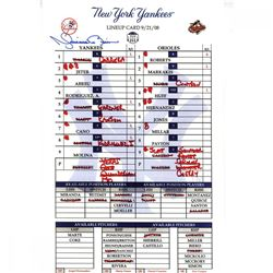 Mariano Rivera Signed Yankees 2008 Final Game Replica Line Up Card (Steiner COA)