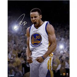 Stephen Curry Signed Warriors 16x20 Photo (Steiner COA)