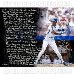 Darryl Strawberry Signed Mets 16x20 with Handwritten Story Inscription (Steiner COA)