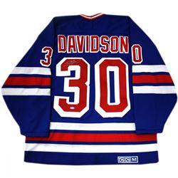 John Davidson Signed Rangers Jersey (Steiner COA)
