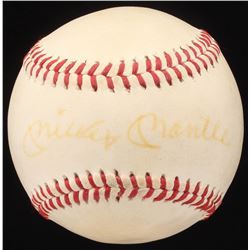 Mickey Mantle Signed OML Baseball (PSA LOA)