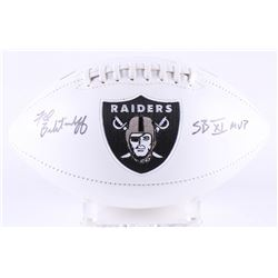 "Fred Biletnikoff Signed Raiders Logo Football Inscribed ""SB XI MVP"" (JSA Hologram)"