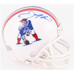 Julian Edelman Signed Patriots Throwback Mini Helmet (JSA COA)