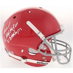 "Paul Warfield Signed Ohio State Buckeyes Full-Size Helmet Inscribed ""61 Champs"" (Radtke COA)"