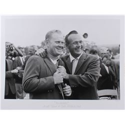 """The Hulton Archive - Arnold Palmer  Jack Nicklaus """"The Master's"""" Limited Edition 17x22 Fine Art Gicl"""