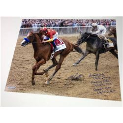 Mike E. Smith Signed 16x20 Photo with Extensive Inscription (Steiner COA)
