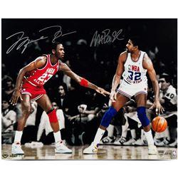 "Michael Jordan  Magic Johnson Signed ""1987 All-Star"" 16x24 Limited Edition Photo (UDA COA)"