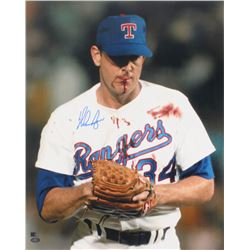 Nolan Ryan Signed Rangers 16x20 Photo (AI Verified Hologram  Ryan Hologram)