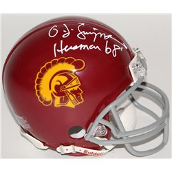 "O.J. Simpson Signed USC Trojans Mini Helmet Inscribed ""Heisman 68'""(JSA COA)"