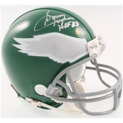 "Sonny Jurgensen Signed Eagles Throwback Mini-Helmet Inscribed ""HOF 83"" (JSA COA)"