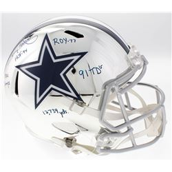 Tony Dorsett Signed Cowboys Full-Size Custom Chrome Speed Helmet (JSA COA)