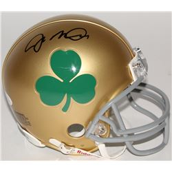 Joe Montana Signed Notre Dame Fighting Irish Shamrock Mini-Helmet (JSA COA)