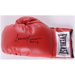 "Lennox Lewis Signed Everlast Boxing Glove Inscribed ""2017"" (JSA COA)"