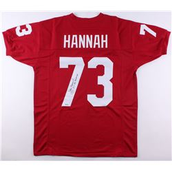 "John Hannah Signed Alabama Crimson Tide Jersey Inscribed ""2x All American"" (SGC COA)"