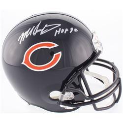 """Mike Singletary Signed Bears Full-Size Helmet Inscribed """"HOF 98"""" (Beckett COA)"""