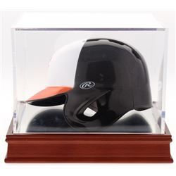 """Frank Robinson Signed Orioles Mini Helmet Inscribed """"1966 T.C."""" with High Quality Display Case (PSA"""