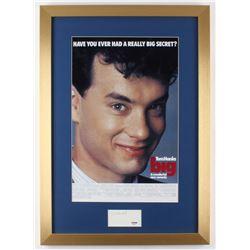 "Tom Hanks Signed ""Big"" 17x24 Custom Framed Cut Display (PSA COA)"