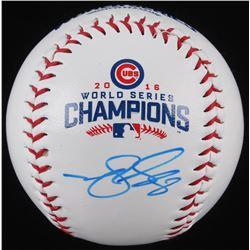 Matt Szczur Signed 2016 Cubs World Series Champions Baseball (Schwartz COA)