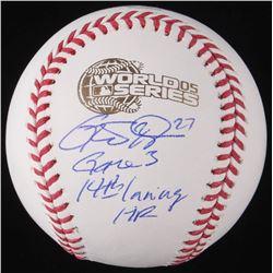 """Geoff Blum Signed 2005 World Series Baseball Inscribed """"Game 3 14th Inning HR"""" (Schwartz COA)"""