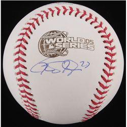 Geoff Blum Signed 2005 World Series Baseball (Schwartz COA)