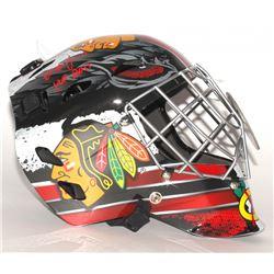 """Ed Belfour Signed Blackhawks Full-Size Goalie Helmet Inscribed """"HOF 2011"""" (Schwartz COA)"""