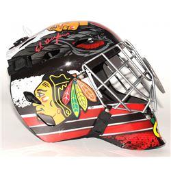 Ed Belfour Signed Blackhawks Full-Size Goalie Helmet (Schwartz COA)