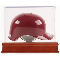 """Mike Schmidt Signed Phillies Mini-Batting Helmet with High Quality Display Case Inscribed """"HOF 95"""" ("""