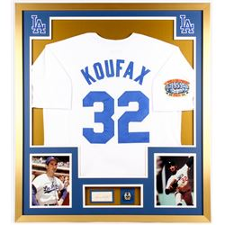 Sandy Koufax Signed Dodgers 32x36 Custom Framed Cut Display (JSA COA)