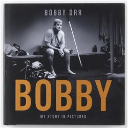 """Bobby Orr Bruins Signed """"My Story In Pictures"""" Hardcover Book (Orr COA)"""